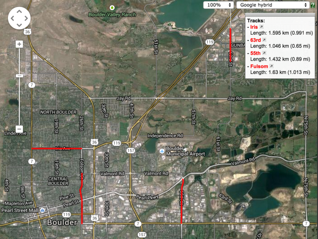 Map of Boulder potential right-sizing streets